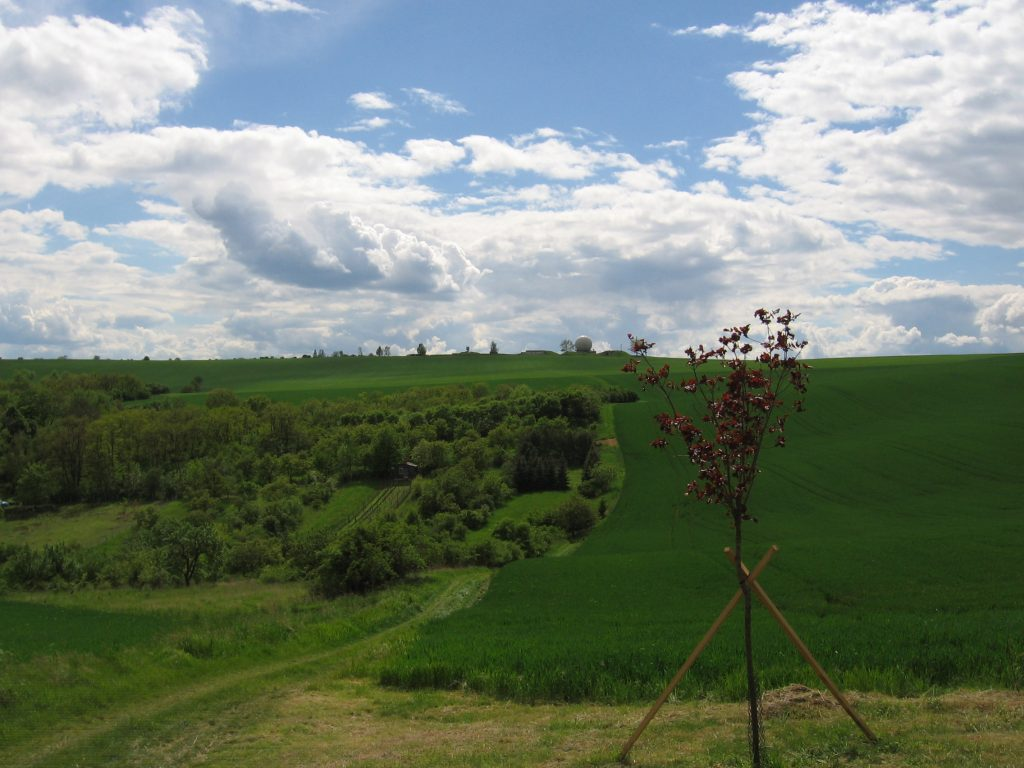 Lookout above Hostěrádky – Rešov with radar in the background